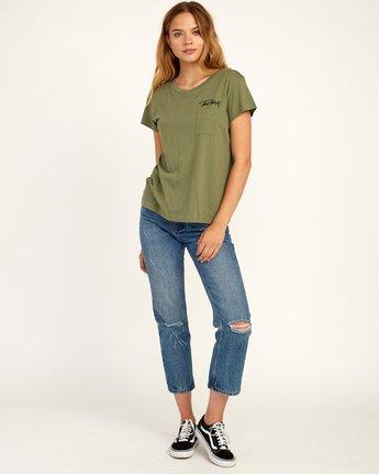 5 Fast Script T-Shirt Green W404TRFA RVCA