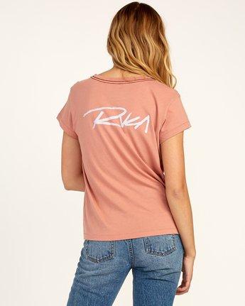 2 Fast Script T-Shirt Brown W404TRFA RVCA