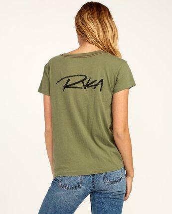 0 Fast Script T-Shirt Green W404TRFA RVCA