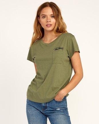 1 Fast Script T-Shirt Green W404TRFA RVCA