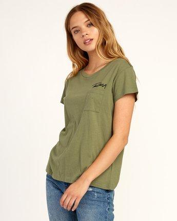 2 Fast Script T-Shirt Green W404TRFA RVCA