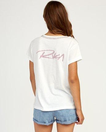 2 Fast Script T-Shirt White W404TRFA RVCA