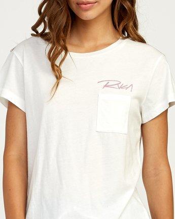 3 Fast Script T-Shirt White W404TRFA RVCA