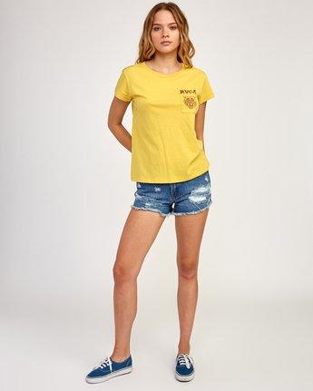 5 Heritage ANP T-Shirt Yellow W404TRHE RVCA