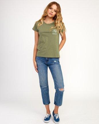 4 Heritage ANP T-Shirt Green W404TRHE RVCA