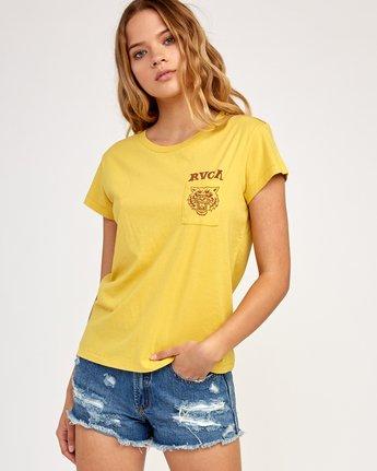 2 Heritage ANP T-Shirt Yellow W404TRHE RVCA