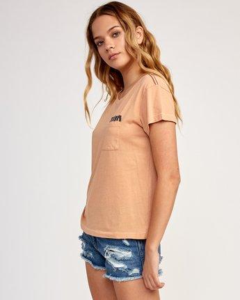 2 Heritage ANP T-Shirt Beige W404TRHE RVCA