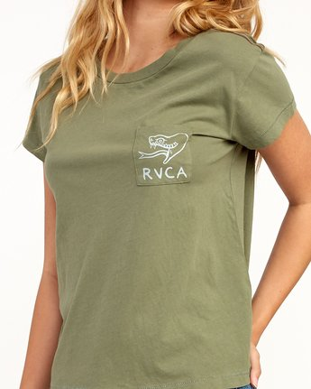 3 Heritage ANP T-Shirt Green W404TRHE RVCA