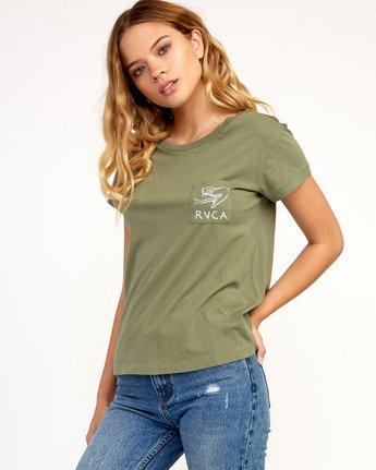 1 Heritage ANP T-Shirt Green W404TRHE RVCA