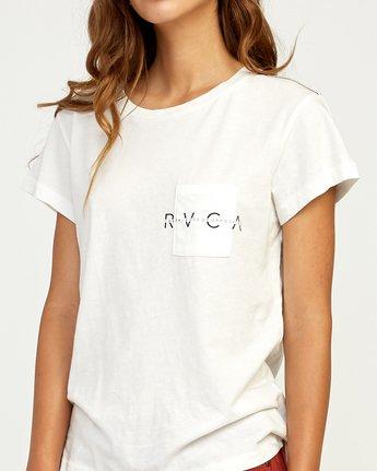3 Inset T-Shirt White W404TRIN RVCA