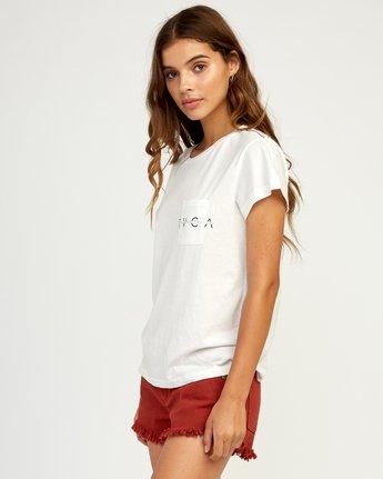 1 Inset T-Shirt White W404TRIN RVCA