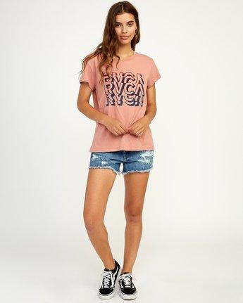 4 Static T-Shirt Brown W404TRST RVCA