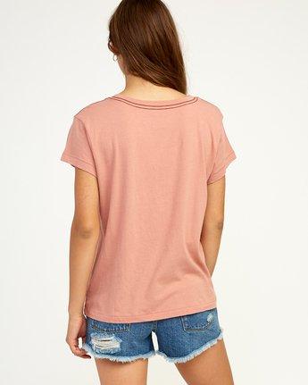 2 Static T-Shirt Brown W404TRST RVCA