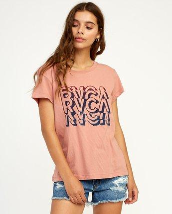 0 Static T-Shirt Brown W404TRST RVCA