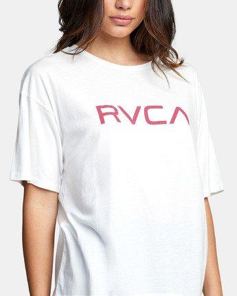 4 BIG RVCA BOYFRIEND T-SHIRT White W4071RBR RVCA