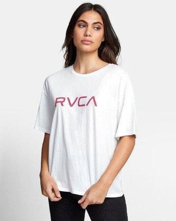 1 BIG RVCA BOYFRIEND T-SHIRT White W4071RBR RVCA