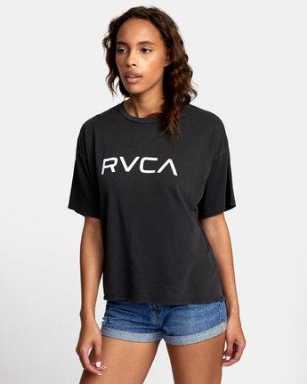 2 BIG RVCA BOYFRIEND T-SHIRT Black W4071RBR RVCA