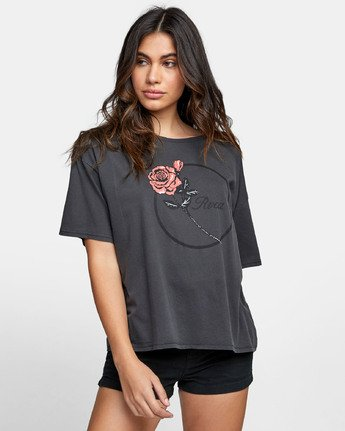 0 THORNS BOYFRIEND T-SHIRT Black W4071RTH RVCA