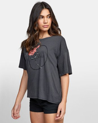 2 THORNS BOYFRIEND T-SHIRT Black W4071RTH RVCA