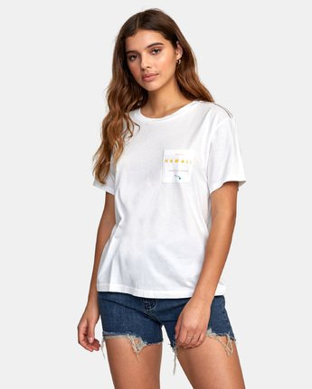 1 DA AINA FILL T-SHIRT White W4101RDF RVCA
