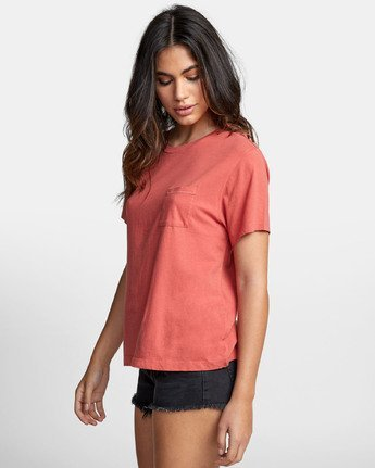 2 DUCKY POCKET T-SHIRT Red W4101RDY RVCA