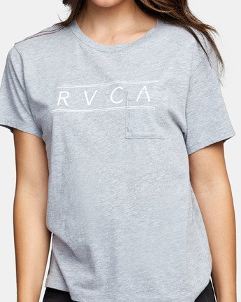 4 RVCA AVE POCKET T-SHIRT Grey W4101RRA RVCA