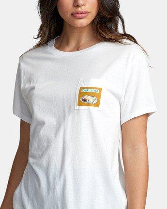 3 TAQUERIA T-SHIRT White W4101RTA RVCA