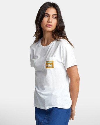 1 TAQUERIA T-SHIRT White W4101RTA RVCA