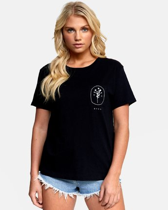 0 MEADOW TEE Black W4102RME RVCA