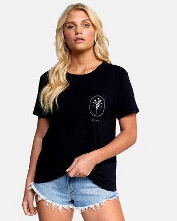 1 MEADOW TEE Black W4102RME RVCA