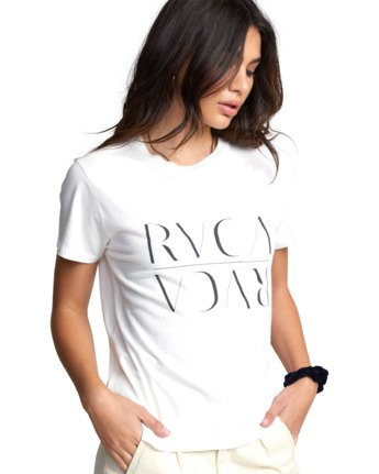 6 UNDER OVER TEE White W4103RUO RVCA