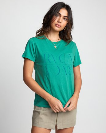 3 UNDER OVER TEE Brown W4103RUO RVCA
