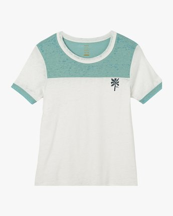 5 Oblow Palm Ringer T-Shirt  W410QROS RVCA