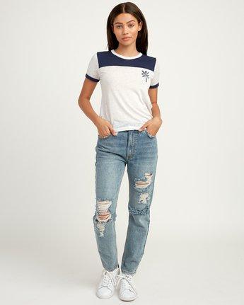 4 Oblow Palm Ringer T-Shirt  W410QROS RVCA