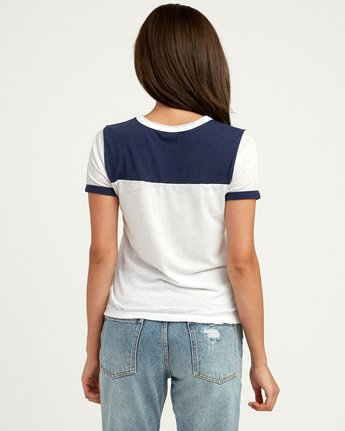 2 Oblow Palm Ringer T-Shirt  W410QROS RVCA