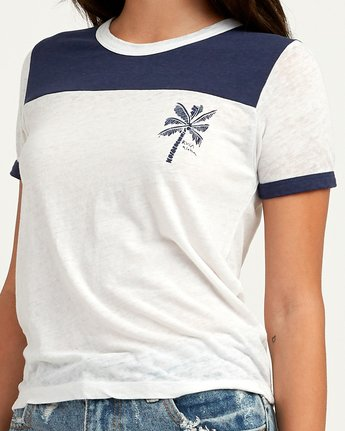 3 Oblow Palm Ringer T-Shirt  W410QROS RVCA