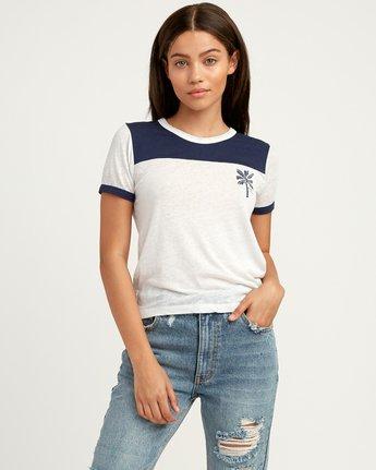 0 Oblow Palm Ringer T-Shirt  W410QROS RVCA