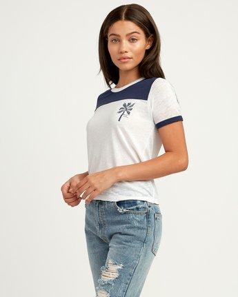 1 Oblow Palm Ringer T-Shirt  W410QROS RVCA