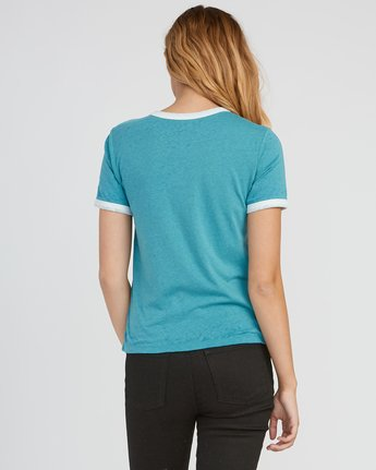 2 Pixel Script Burnout Ringer T-Shirt Brown W410SRPI RVCA