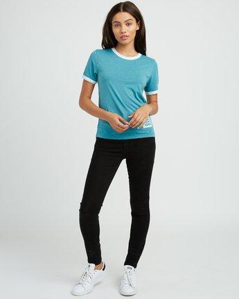 4 Rivey Era Burnout Ringer T-Shirt Pink W410SRRI RVCA