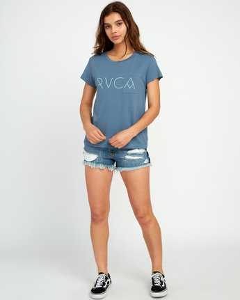 4 Angler Relaxed Pocket T-Shirt Blue W412URAN RVCA