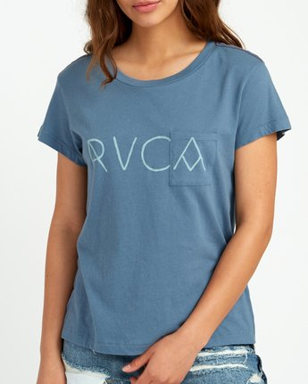 3 Angler Relaxed Pocket T-Shirt Blue W412URAN RVCA