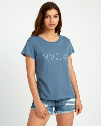 0 Angler Relaxed Pocket T-Shirt Blue W412URAN RVCA