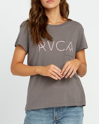 3 Angler Relaxed Pocket T-Shirt Grey W412URAN RVCA