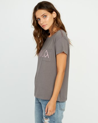 1 Angler Relaxed Pocket T-Shirt Grey W412URAN RVCA