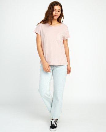 4 Flora Seal Relaxed Pocket T-Shirt Pink W412URFL RVCA