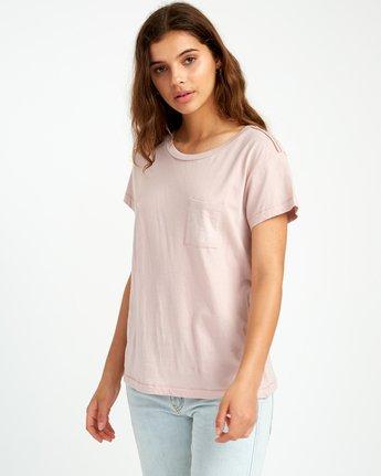 1 Flora Seal Relaxed Pocket T-Shirt Pink W412URFL RVCA
