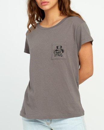 3 Bert Krak Pick Your Battles Pocket T-Shirt Grey W412URPI RVCA