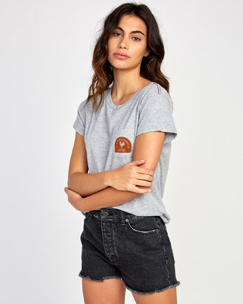 1 No Fight  Pocket T-Shirt Grey W412VRAH RVCA