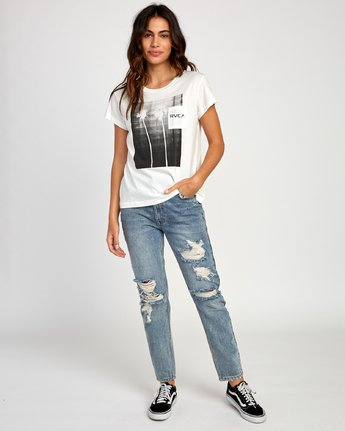 4 Copy Cat Relaxed T-Shirt White W412VRCO RVCA